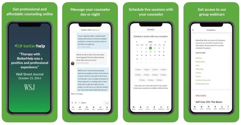 Betterhelp : l'app de thérapies et de conseils pour mieux vivre
