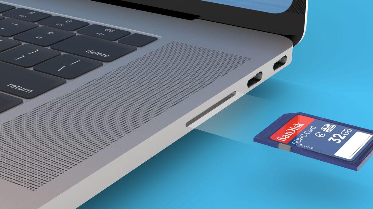 Un lecteur de carte SD sur le MacBook Pro 2021