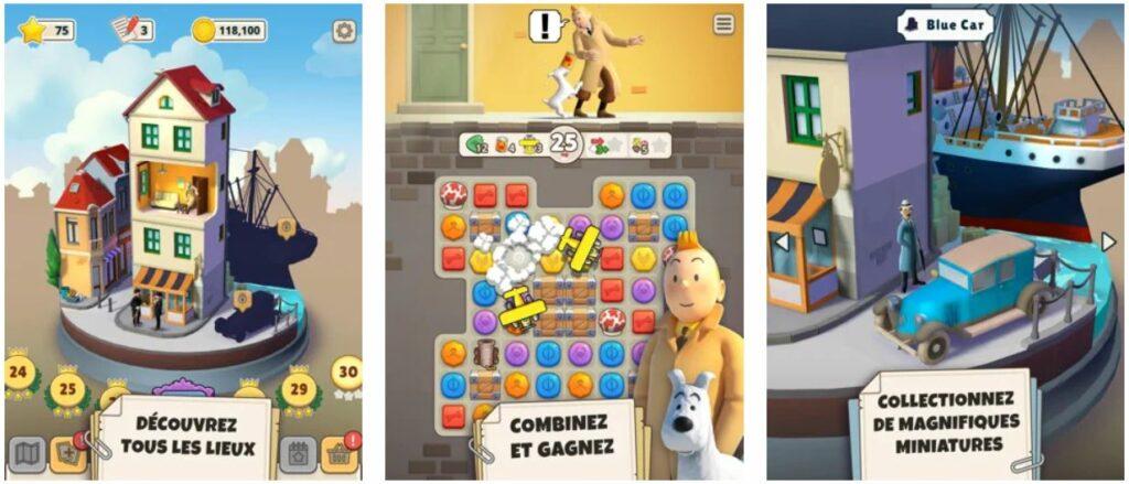 Jeu du jour : Tintin Match 3 (iPhone & iPad - gratuit)