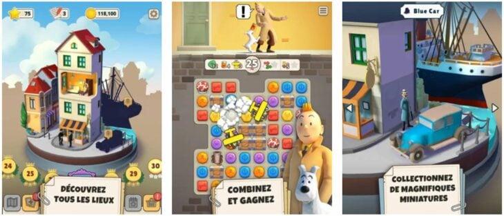 Jeu du jour : Tintin Match 3 (iPhone & iPad – gratuit)