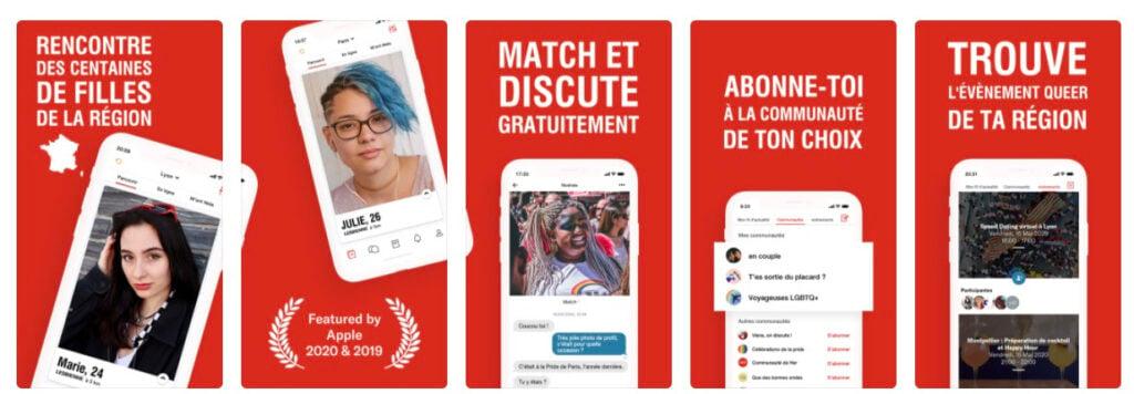 HER, une app de dating LGBTQIA+, mais pas seulement