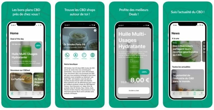 CBDeal : les bons plans CBD en France (iPhone & iPad)
