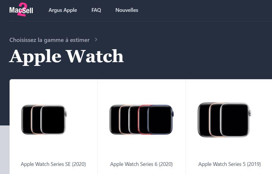 Mac2Sell propose la 1re cote de référence des Apple Watch