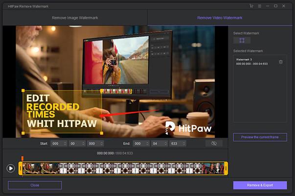 HitPaw Watermark Remover : supprimer les filigranes des images & vidéos