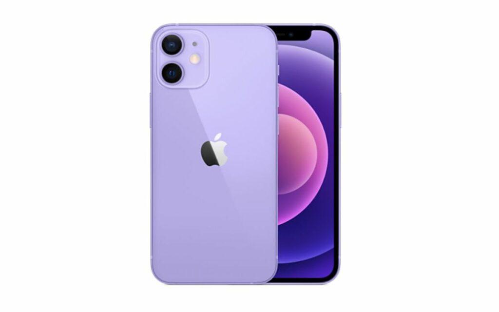 iPhone 12 et 12 mini en mauve