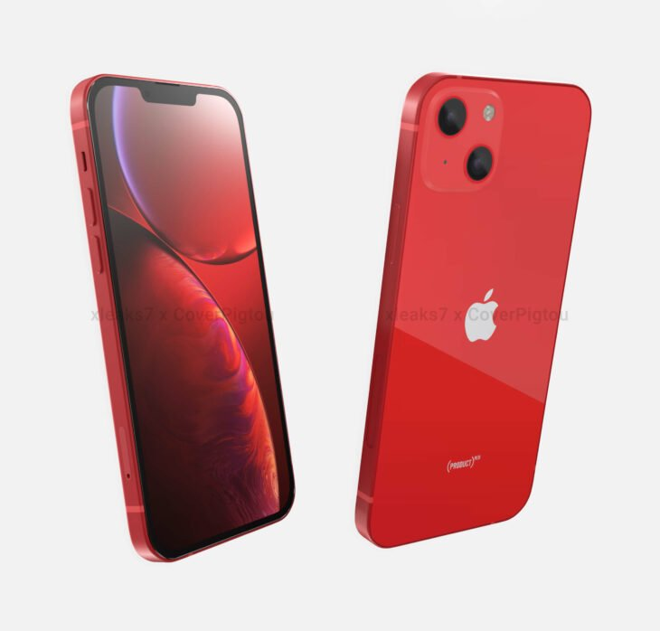 iPhone 13 (PRODUCT)RED : un premier rendu du modèle rouge