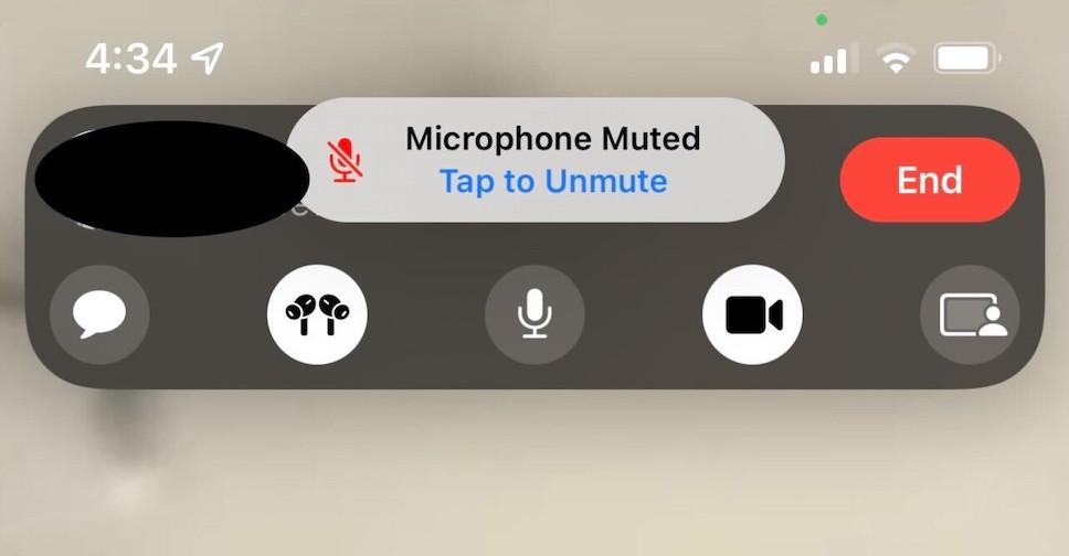 FaceTime sur iOS 15 vous avertit si vous parlez avec le micro coupé