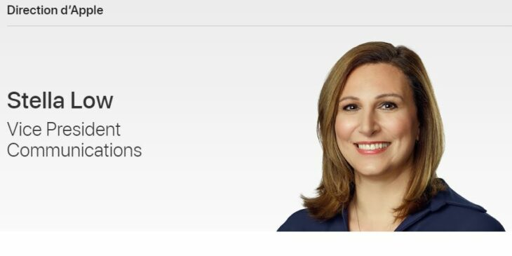 Apple présente Stella Low, sa nouvelle VP des communications