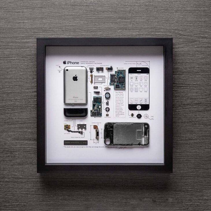 Grid Studio transforme les vieux iPhone en œuvres d'art, ou presque