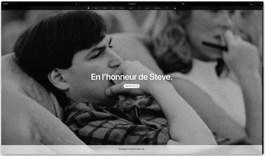 Apple commémore les 10 ans de la disparition de Steve Jobs